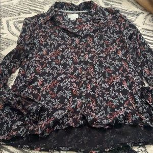 Anthropologie Maeve Floral  Long Sleeve Top 0